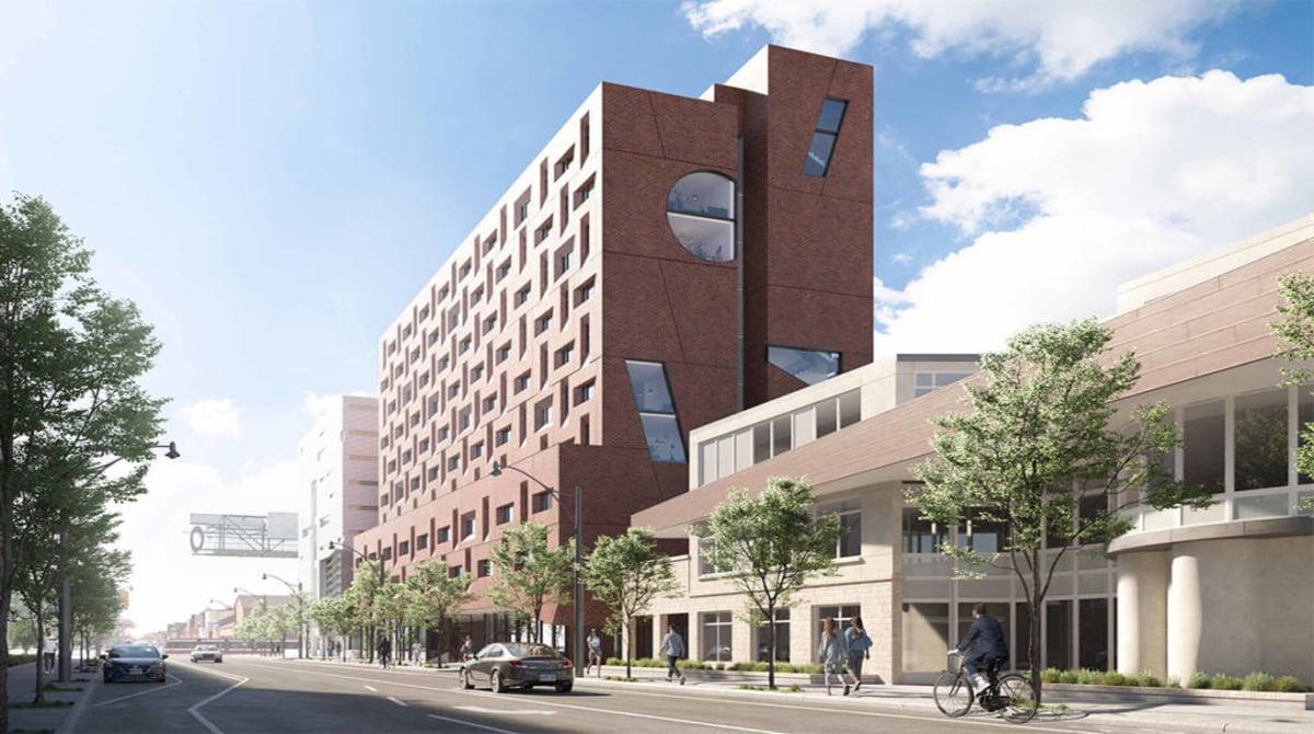 10 story graduate residence building