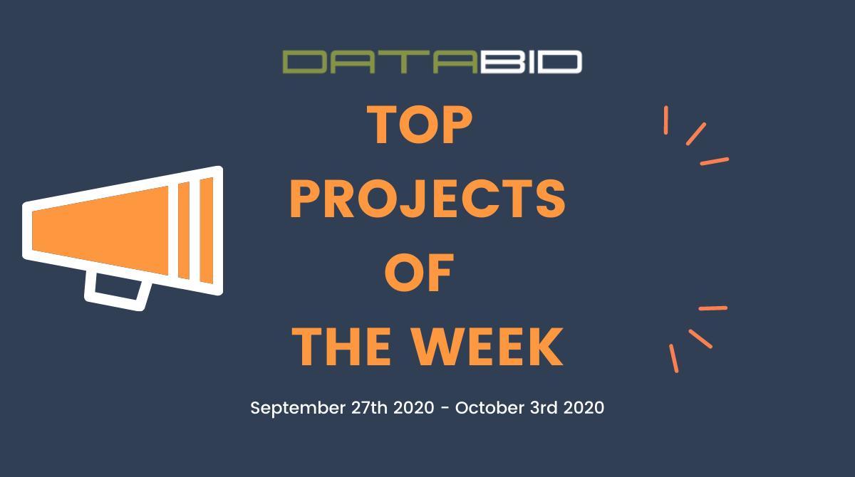 DataBids Top Leads of The Week 09272020 - 10032020