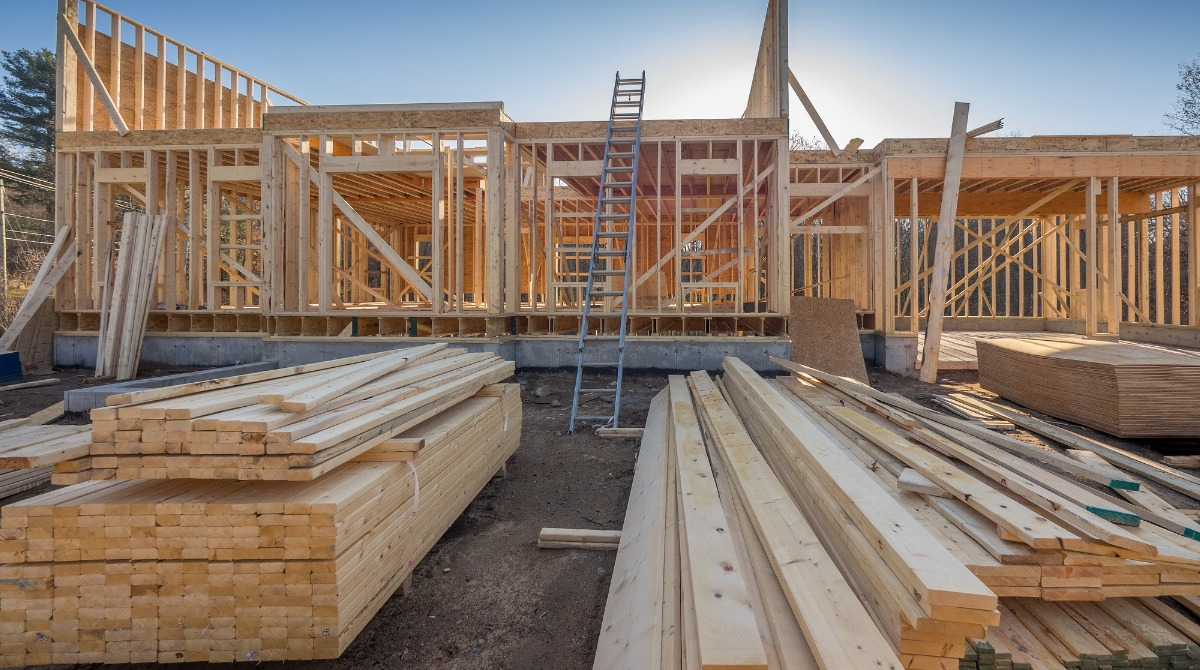 new-house-construction-framing-picture-id883091686